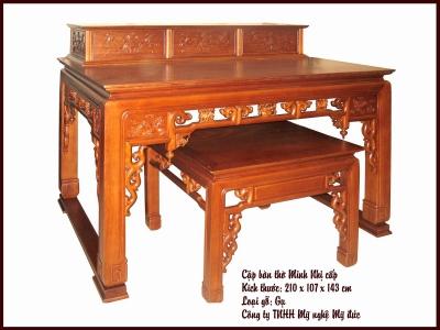 Tìm hiểu về bàn thờ, tủ thờ gia tiên ( phần 2 )