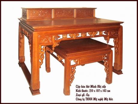 Cặp bàn thờ Minh Nhị cấp