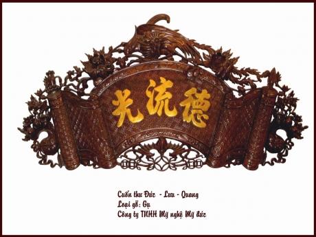 Cuốn thư Đức - Lưu - Quang thiếp vàng
