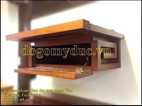 Bàn thờ treo gỗ Hương