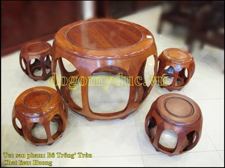 Bộ trống tròn gỗ Hương