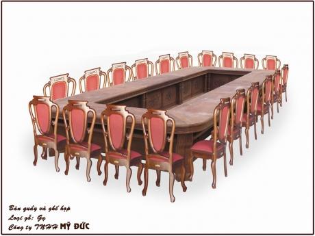 Bàn quầy và ghế họp