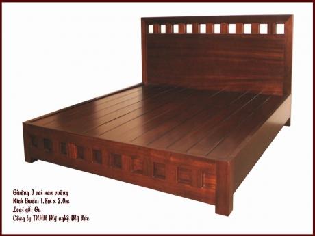 Giường 3 vai nan vuông