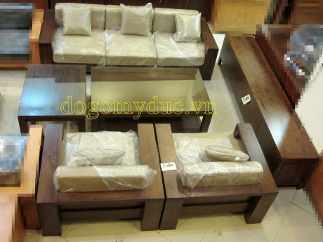 Bộ Sofa + Kệ TV gỗ Óc Chó