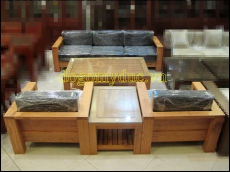 Bộ Sofa có đệm gỗ Sồi