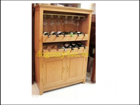 Tủ rượu có giá treo ly