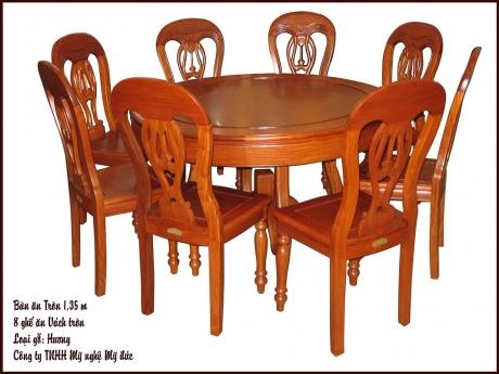 Bộ bàn ghế ăn vai tròn